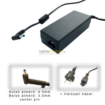 HP 19.5V 4.62A (90W) utángyártott új vékony center-pines laptop hálózati töltő